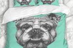 Funda nordica bulldog ingles con gafas retro