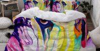 Funda nordica bulldog retrato colorido