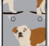 Funda para smartphone iPhone 7 Plus 8 Bulldog Skateboard
