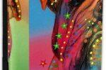 Funda pasaporte cuero con bulldog multicolor
