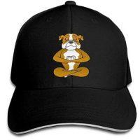 Gorra ajustable de algodon con bulldog ingles yoga