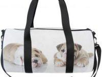 Gym bag con cachorros bulldog ingles