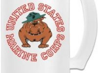 Jarra de cerveza resistente bulldog ingles marine