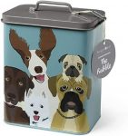 accesorios de alimentacion de bulldog ingles precio lata portatil almacenar pienso contenedor alimento perro
