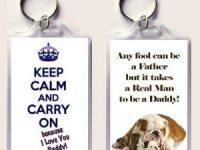 Llavero bulldog ingles keep calm