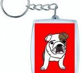 Llavero cachorro bulldog ingles