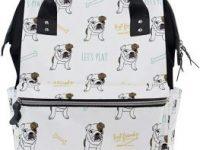 Mochila De Viaje Multifuncion para panales y ropa bebe de bulldog ingles