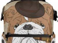 Mochila con bulldog ingles elegante