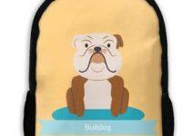 Mochila escolar con bulldog ingles