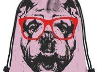 Mochilas de cordones Bulldog ingles con Gafas