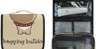 Neceser de bulldog ingles para colgar estuche bolsa aseo