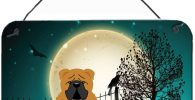 Placa de Madera para Colgar con bulldog ingles