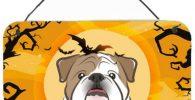Placa decorativa de Madera para Colgar con bulldog ingles