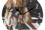 Reloj Pared acrilico Bulldog ingles Reino Unido