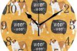 Reloj de pared con bulldogs ingleses