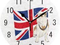 Reloj pared bulldog ingles bandera UK