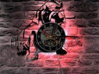 Reloj pared cachorro bulldog ingles con vinilo y LED