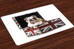 Salvamantel Set de 4 Unidades bulldog ingles bandera britanica