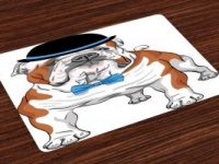 Salvamantel Set de 4 Unidades bulldog ingles elegante