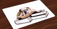 Salvamantel Set de 4 Unidades bulldog ingles estudiante