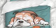 Set funda nordica de bulldog ingles para cama
