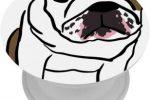 Soporte para telefono con dibujo bulldog
