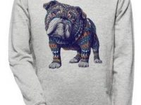 sudadera bulldog ingles sin capucha color gris