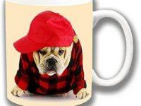 Taza de bulldog ingles rapero