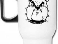 Taza de viaje Bulldog divertida