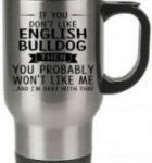 Taza de viaje acero inoxidable english bulldog