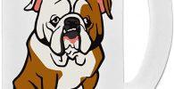 Taza de vidrio para cerveza 500ml english bulldog