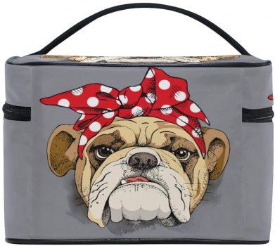 Bolsa bulldog de maquillaje y organizador de cosmeticos
