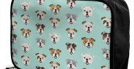 Bolsa bulldogs para viaje travel bag