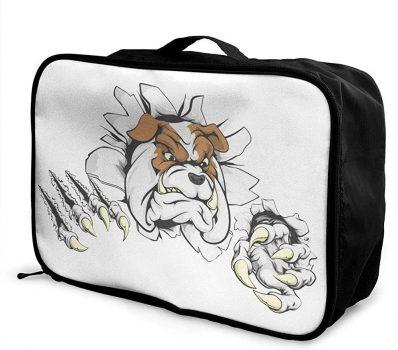 Maleta de Bulldog ingles funda protectora de bulldogs bolsa de bulldogs etiquetas identificacion bulldog Bolsa de bulldog ingles para trolley viaje