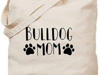 Bolsa de lona bulldog mom