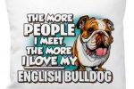 Cojin bulldog ingles divertido lema