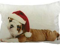 Cojin de bulldog ingles cachorro puppy navidad