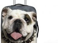 Cubierta impermeable para maleta equipaje con bulldog