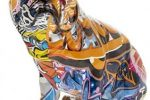 Figura bulldog ingles graffitti