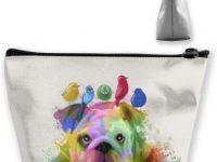 Organizador maquillaje para bolsos con bulldog ingles