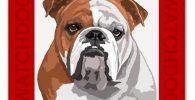 Placa decorativa bulldog