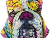Polaina de bulldog ingles multicolor calentador cuello
