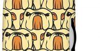 Protector impermeable de bulldog ingles para maleta de Viaje
