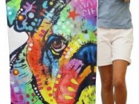 Toalla bulldog ingles multicolor de terciopelo