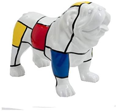 figura de bulldog ingles resina