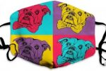 Mascarilla bulldogs lavable