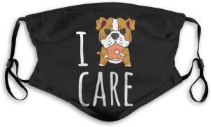 Mascarilla de bulldog ingles puppy con filtro lavable y reutilizable