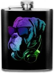 petaca de bulldog ingles para licor frasco de bolsillo para licor whisky