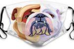 mascarilla bulldog ingles abstracto