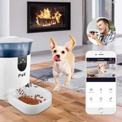 dispensador automatico de comida para perros y gatos dispensador de comida con camara y voz